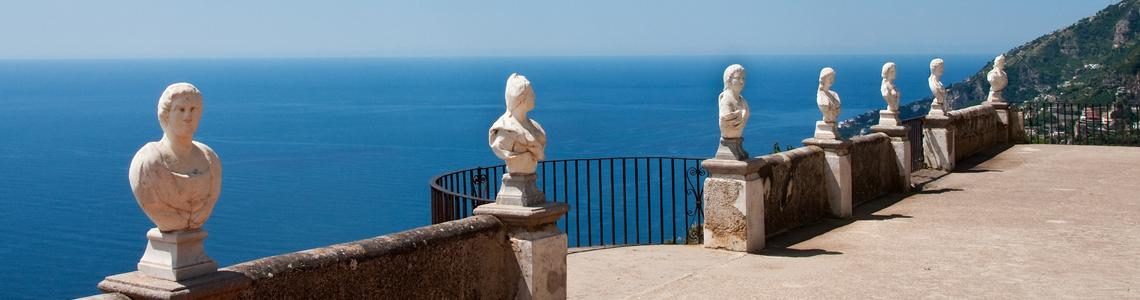 Belvedere of the Villa Cimbrone; also known as Terrazza dell'Infinito (Terrace of Infinity)